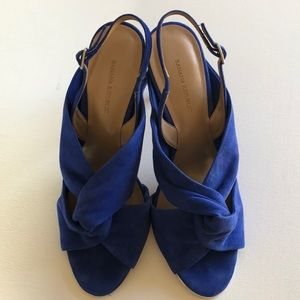 Banana Republic blue suede Jessa heels